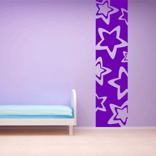 bonita banda de vinilo formada por estrellas perfecta para decorar la pared de la habitacin cheap