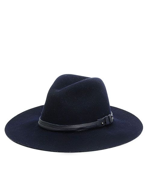 rag & bone Official Store, Wide Brim Fedora - Navy, navy fl, Womens : Accessories : Fedoras, W236184AD