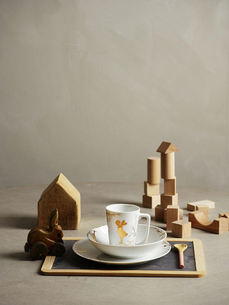 Wik & Walsøe | Barneservise Alv Gull | Norway Designs