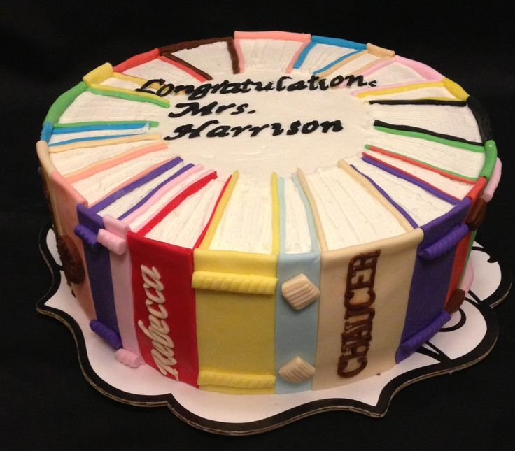 Book cake for retiring English/history teacher