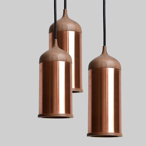 suspended copper fin. lights_back office