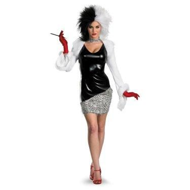 A wicked time awaits you when you're dressed as one of Disney's iconic villains, Cruella De Vil. Stroll into any party with confidence in this stylish 101 Dalmations: Fab Deluxe Cruella De Vil Costume. Black, white and red Cruella sure knows how to make a statement. Complete this look with matching red shoes and lipstick to truly stand out.