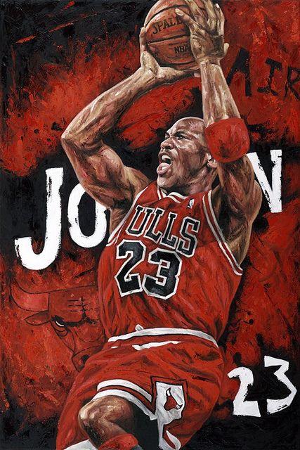 #Michael Jordan by artist Justyn Farano    #sportsart www.asportinglife.com