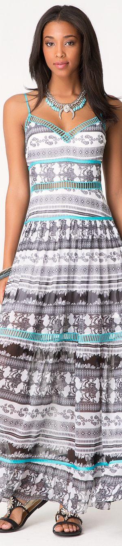 #aztec #print maxi summer dress. women fashion @roressclothes closet ideas