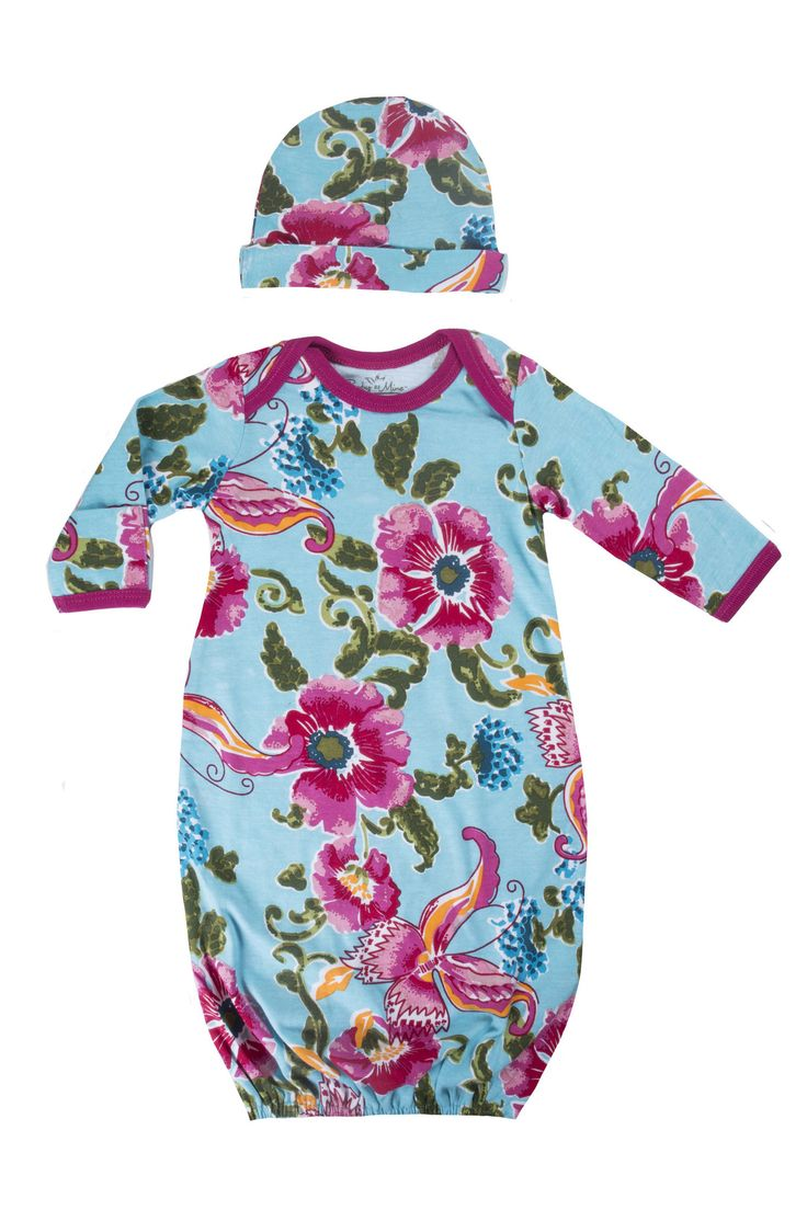 Pack it in your hospital bag for your babies first going home outfit.This baby gown is a super match to the Isabelle labor & delivery gown or nursing nightgown.