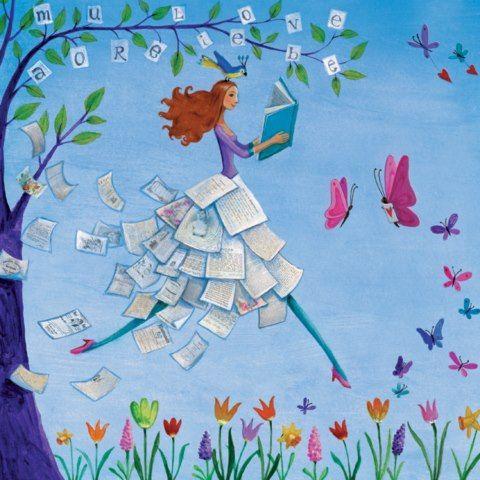 Women readers in summer / Lectoras en verano (ilustración de Mila Marquis)