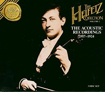 Jascha Heifetz | The Acoustic Recordings (1917-1924) | CD 8567 | http://catalog.wrlc.org/cgi-bin/Pwebrecon.cgi?BBID=7746003
