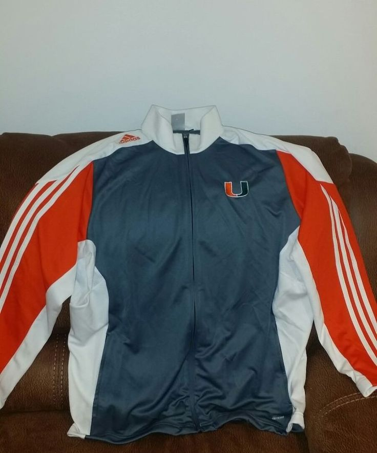 Adidas climacool miami hurricanes ncaa basketball football jacket size XL mens | Sports Mem, Cards & Fan Shop, Fan Apparel & Souvenirs, College-NCAA | eBay!