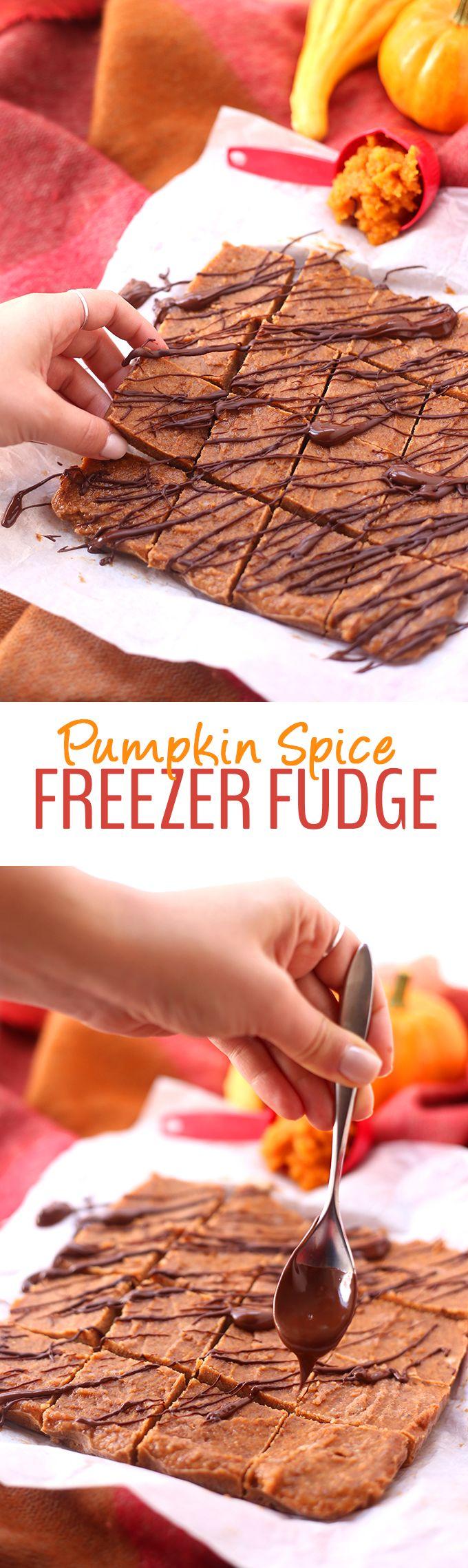 Pumpkin Spice Freezer Fudge by @TheHealthyMaven - The Healthy Maven