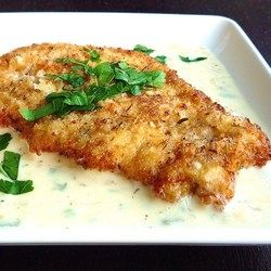 Chicken Milanese with Lemon Cream. The cream sauce alone is making me weak at the knees. This recipe will make your family/guests nominate you for the chef of the year award for sure!