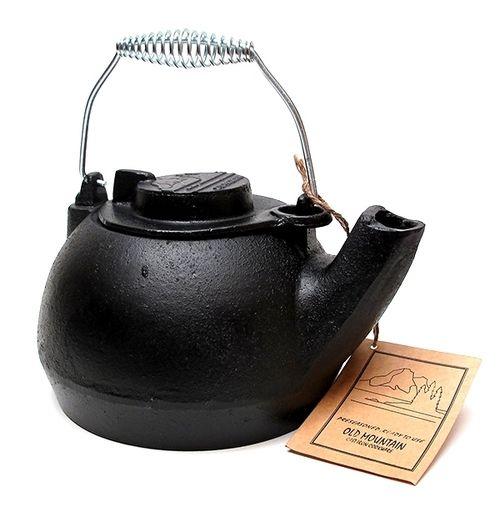 Old Mountain Cast Iron Pre-Seasoned Tea Kettle
