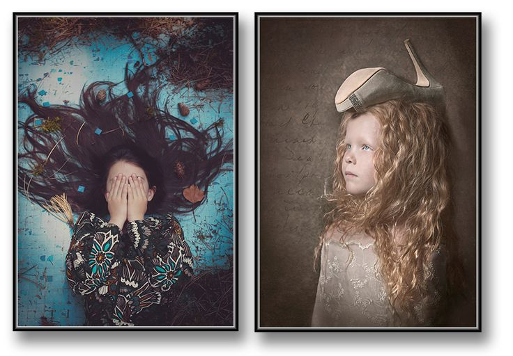 Sweet fahion little girl / poster / fineart