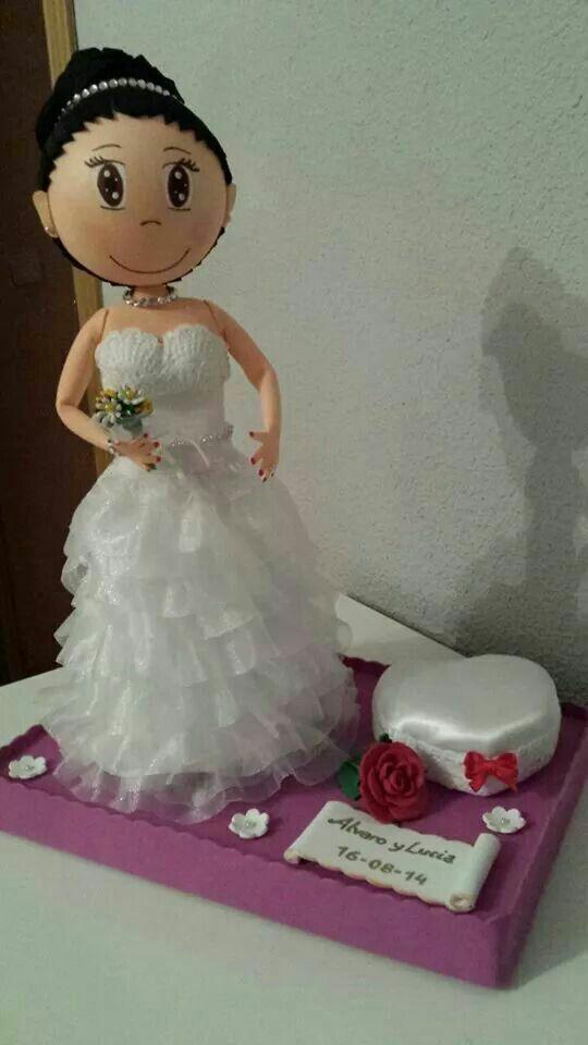 fofucha novia   fofuchas   pinterest