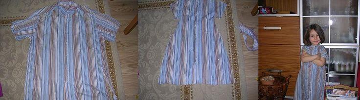 my husband's shirt into my daughter's dress