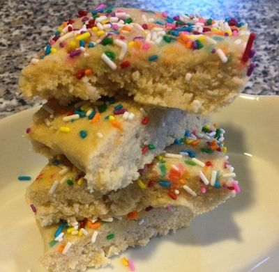 Ripped Recipes - Cake Batter Protein Bars  - Bite into these mouthwatering cake batter bars!