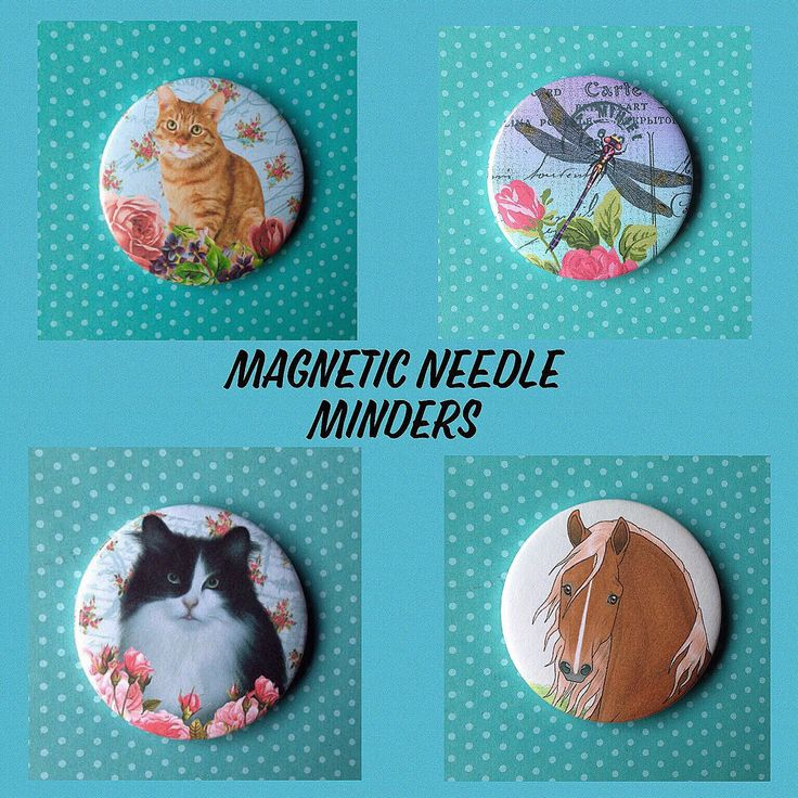 Magnetic Needle Minders Handmade. A lovely little gift for any needlework lover. Ideal for Birthdays or Christmas gifts. Maybe just to treat yourself