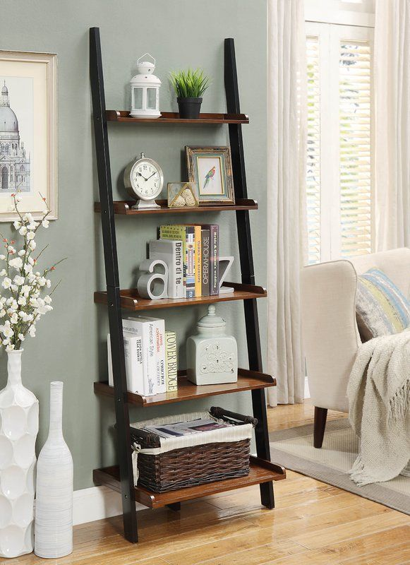 Gilliard Ladder Bookcase In 2020 Shelf Decor Living Room Ladder Shelf Decor Home