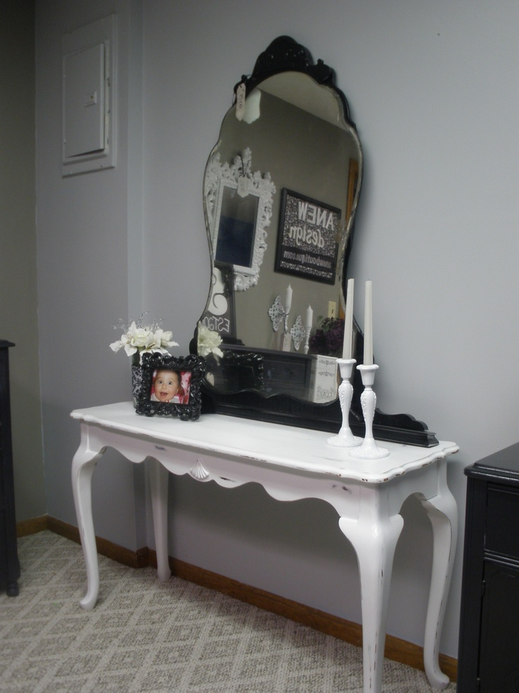 I found this antique dresser mirror in the basement of an estate sale.  I love the idea of using it as an accent in any room. See more at anewboutique.com