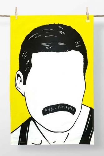 Rock Icon Tea Towel - Freddie Mercury