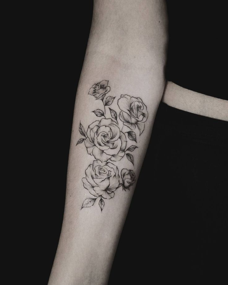 The 25 best rose tattoo on forearm ideas on pinterest for Forearm flower tattoos