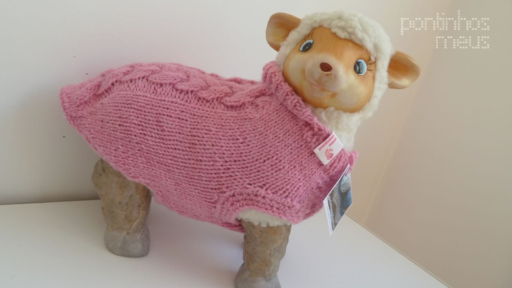 pontinhos meus: Camisola canina - Cozy dog sweater