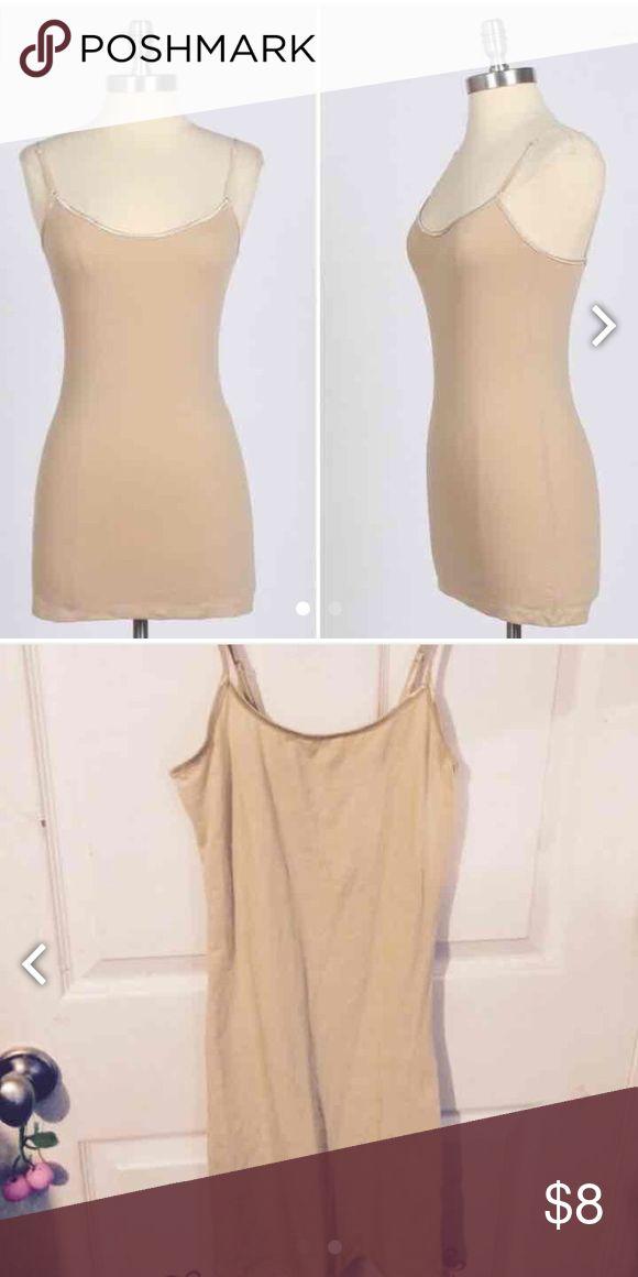 Khaki beige cami mini dress bodycon Used Dresses Mini