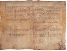 Proyecto editorial IV Centenario Compromiso de Caspe. Facsimil original del acta del Compromiso de Caspe.
