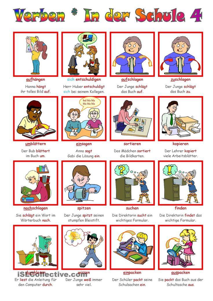 German grammar - School verbs 4