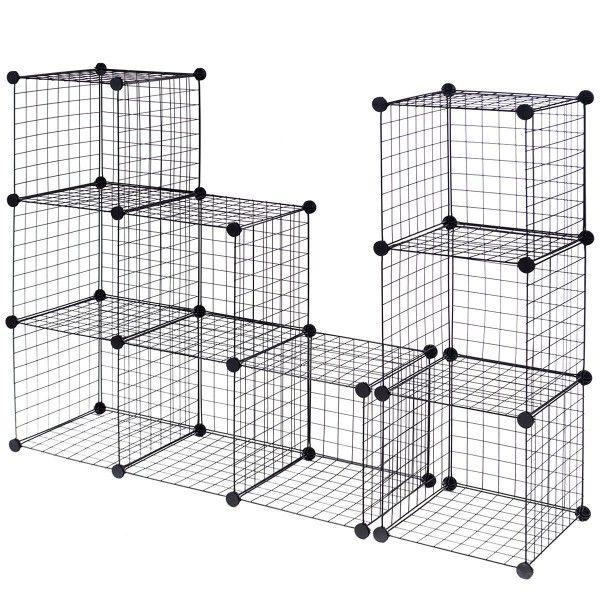 Diy 12 Cube Grid Wire Cube Shelves Cube Storage Wire Storage Shelves Cube Shelves