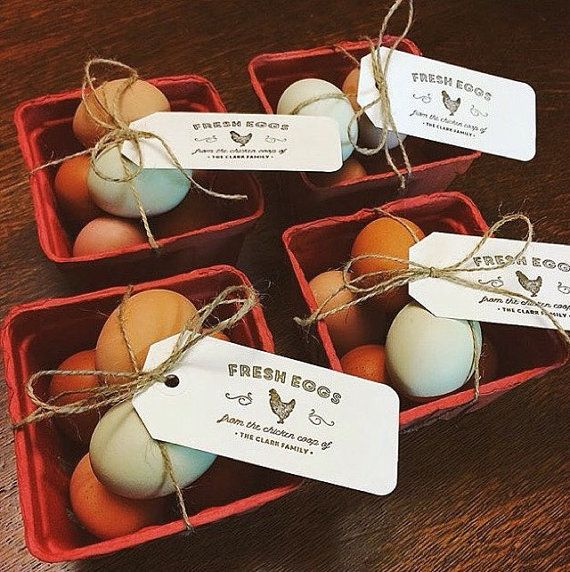 Chicken Rubber Stamp Egg Carton Labels by SubstationPaperie