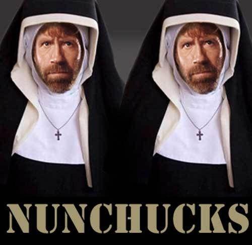 Nun Chucks from Catholic Memes website
