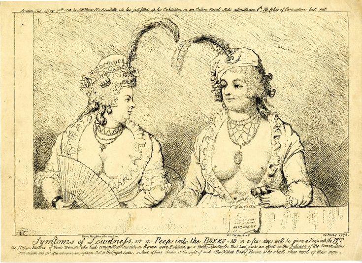 В начале 19-го века были в моде очень открытые платья из тончайшей ткани, дамы не отказывали себе в обнажении, это английская карикатура:
