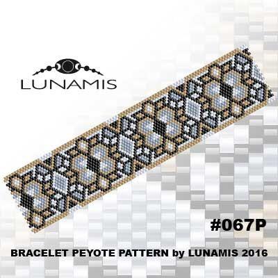 Peyote bracelet pattern, peyote pattern, stitch pattern, pdf file, pdf pattern, #067P by LunamisBeadsPatterns on Etsy
