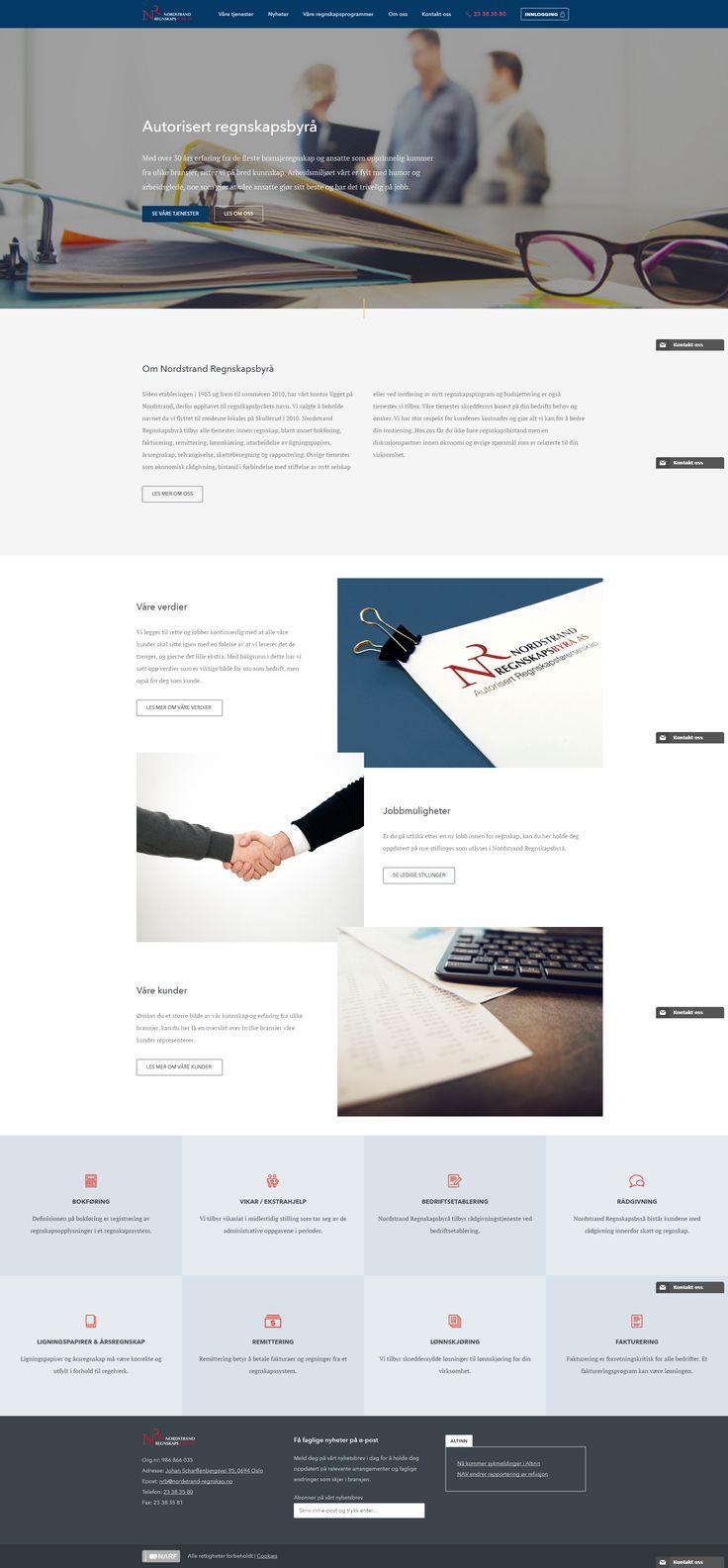 Nettsiden til Nordstrand Regnskap. #webdesign