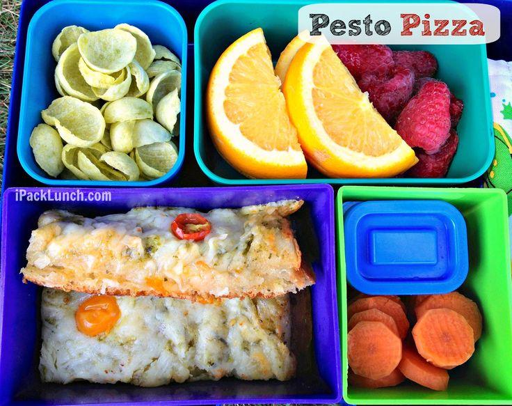 Pesto pizza strips