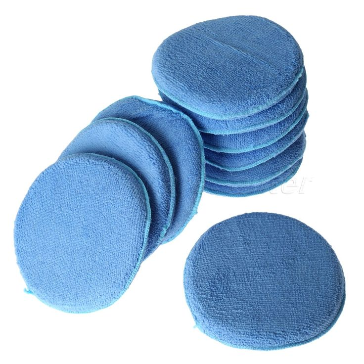 New 10X 6inch Car Waxing Polish Soft Microfiber Foam Sponge Applicator Pads Auto Cleaning Detailing Pads For Car Wash Care