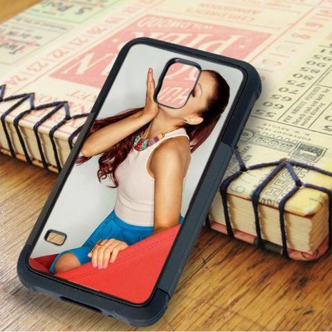 Ariana Grande Cute Kiss Samsung Galaxy S5 Case