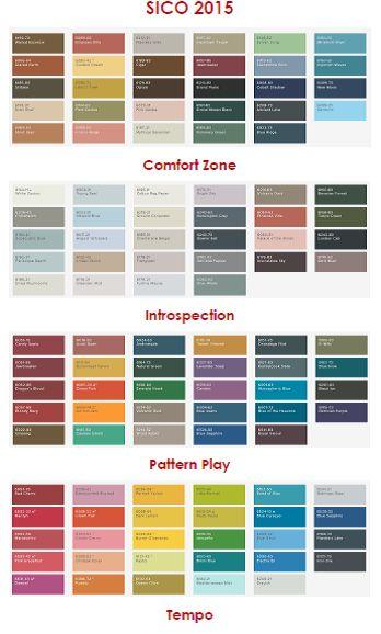 sico's 2015 colour palettes | @meccinteriors | design bites | #colourtrends #2015trends #2015colourtrends