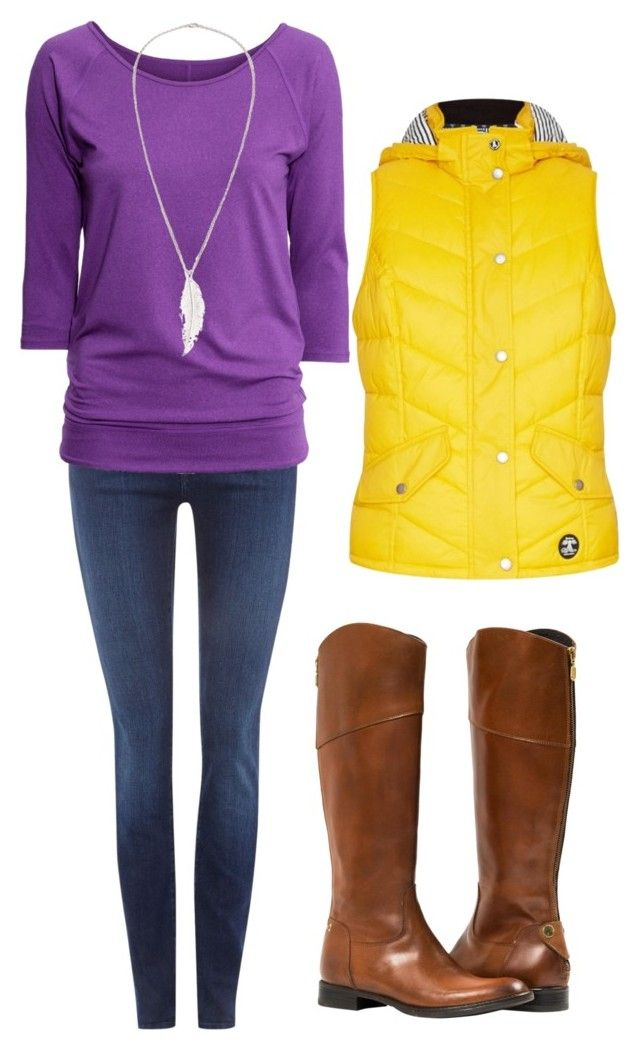 """ECU Game Day"" by heartsdesireathome on Polyvore featuring 7 For All Mankind, H&M, Barbour and LeiVanKash"