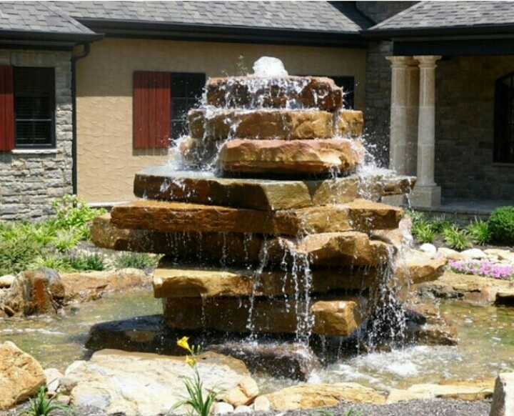 Stacked Rock Waterfall Stone Water Features Water