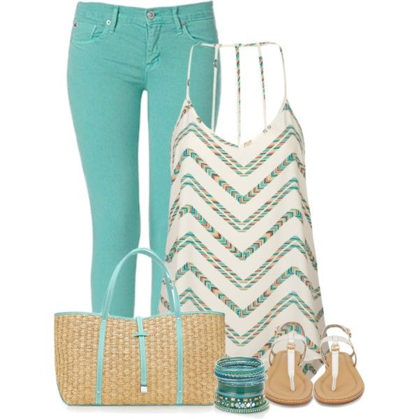 Summer OutfitBaby Blue, Fashion Outfit, Mint Green, Casual Outfit, Colors Jeans, Summer Style, Summer Outfits, Fashionista Trends, Green Pants