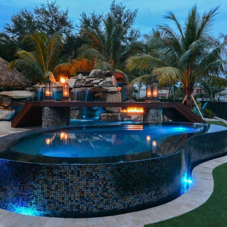 Lucas Lagoons On Instagram Mediterranean Backyard Custom Pool Resort In Wellington Florida With A Car Dream Backyard Pool Custom Pools Luxury Swimming Pools