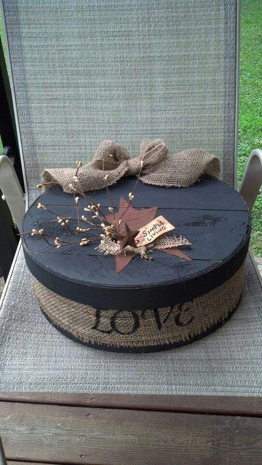 Cheese Box Idea Create Burlap Crafts Primitive Crafts