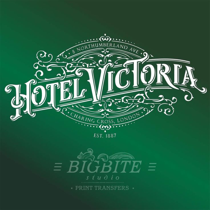 Furniture, Wall, Project Shabby Chic Stencil – Vintage Hotel Victoria Stenciled Advert #070 by BigBiteStudio on Etsy