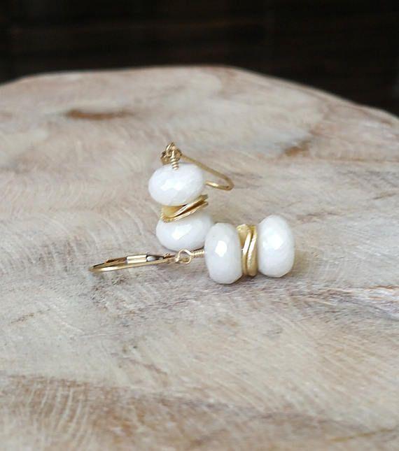 White Sapphire Earrings  #jewelry #earrings #wedding #bridal #sapphire