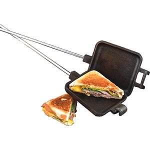 Camp Chef Cast Iron Single Square Cooking Iron. These open up a world of decadent camp food, from breakfast to dessert, all with minimal prep and clean up, and pretty inexpensive too!! Worth the cost, for sure.