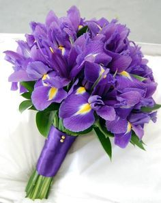 bridal purple iris bouquet - Google Search