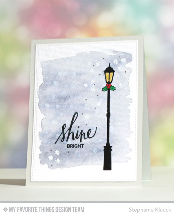 Hand Lettered Holiday, Streetlights Die-namics - Stephanie Klauck  #mftstamps
