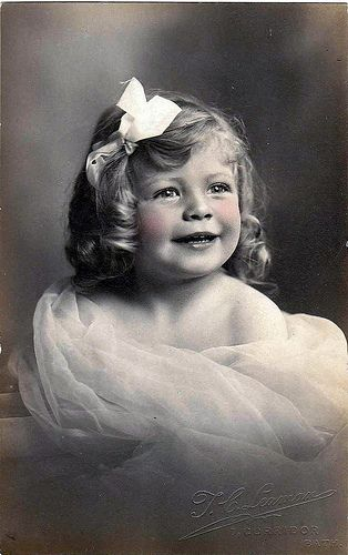 free for personal use ~ Vintage Postcard ~ Sweet Little Girl by chicks57, via Flickr