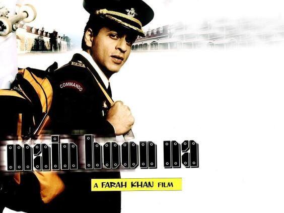 MAİN HOON NA(2004) Bir yüzbaşı görev için üniversiteye dönerse hem de öğrenci olarak.Müzikleri ,dansları ile çok eğlenceli aynı zamanda aksiyon içeren bir film.Gerçekten eğlenceli.Shahrukh Khan başrolde. İmdb puanı:7,0